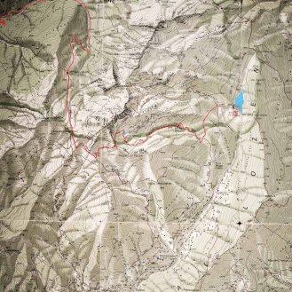 (manca parte finale del percorso, verso Caoria, fuori dall'area coperta dalla mappa)