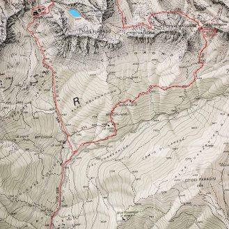 percorso sulla mappa
