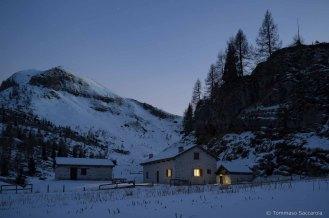 Casera Campotorondo, di notte - Parco Nazionale Dolomiti Bellunesi