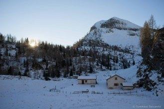 Casera Campotorondo, al mattino - Parco Nazionale Dolomiti Bellunesi