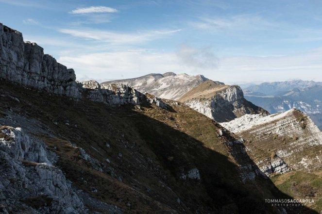 Lungo il sentiero 801 - Alta via delle Dolomiti n° 2 - Parco nazionale Dolomiti Bellunesi